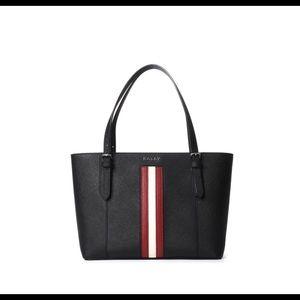 Authentic Bally Stripe Leather Shopper NWT